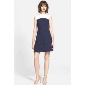 Kate Spade Navy Combo Colorblock Crepe Dress